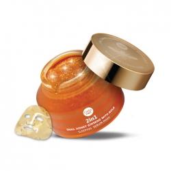 *โปรโมชั่น* 2in1 Snail Honey Ginseng with Gold Sleeping Serum Mask 70g Cathy Doll Secret Recipe