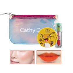 *Pro Mother Day*  Pokemon Cushion Blush & Tint+Clutch (Peach Tone) Cathy Doll All