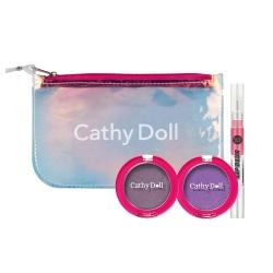Eyeshadow&Lip+Clutch M (Dark Blue Tone) Set Cathy Doll  All