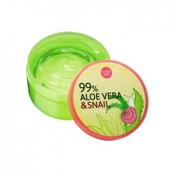 Aloe Vera & Snail Serum Soothing Gel 300g Cathy Doll