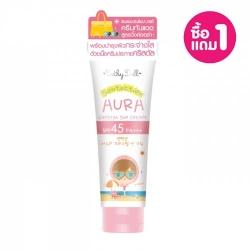 *โปรโมชั่น ซื้อ1แถม1* Aura Crystal Sun Cream SPF45 PA+++ 140g Cathy Doll Suntection