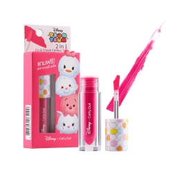 *โปรโมชั่น Tsum Tsum* 2in1 Lip & Cheek Chiffon Tint 2.4g Cathy Doll Disney Tsum Tsum #03 Wonder Pink