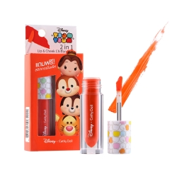 *โปรโมชั่น Tsum Tsum* 2in1 Lip & Cheek Chiffon Tint 2.4g Cathy Doll Disney Tsum Tsum #02 Tango Orange