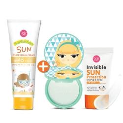 *โปรโมชั่น 1 แถม 2* Sun White Serum Cream SPF45 PA+++ 140g Cathy Doll Suntection