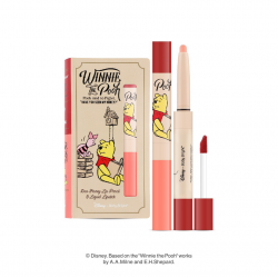 *Pro 10.10 Big Sale* Duo Honey Lip Pencil & Liquid Lipstick 0.5+2.5g Baby Bright Disney Winnie the Pooh Baby Bright P