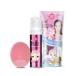 Bubble Mousse Cleanser 70ml+Face Wash Cleansing Pad Set Cathy Doll Ready 2 White