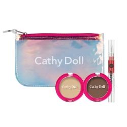 Eyeshadow&Lip+Clutch M (Brown Tone) Set Cathy Doll All