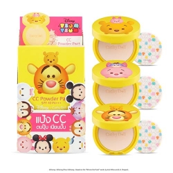 *โปรโมชั่น Tsum Tsum* CC Powder Pact SPF40 PA+++ 4.5g Cathy Doll Disney Tsum Tsum #21 Light Beige 3Pcs.