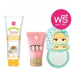 *โปรโมชั่น Summer Sale Makeup & Sun Care Collection Suntection* Sun White Serum Cream SPF45 PA+++ 140g Cathy Doll Suntection