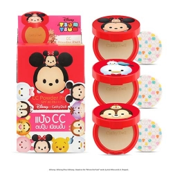 *โปรโมชั่น Tsum Tsum* CC Powder Pact SPF40 PA+++ 4.5g Cathy Doll Disney Tsum Tsum #25 Honey Beige 3Pcs.