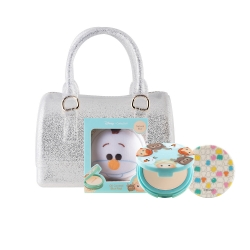 Tsum Tsum Oil Control Pact 12g (Olaf)+Mini Jelly Bag Set Cathy Doll All