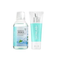 *Pro Valentine* Premium Fresh Mint Mouthwash 250ml + Premium Fresh Smile Toothpaste 50g Skynlab p
