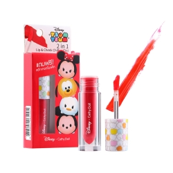 *โปรโมชั่น Tsum Tsum* 2in1 Lip & Cheek Chiffon Tint 2.4g Cathy Doll Disney Tsum Tsum #01 Salsa Red
