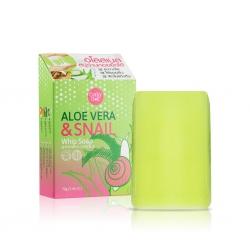 Aloe Vera & Snail Whip Soap 70g Cathy Doll