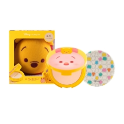 *โปรโมชั่น Tsum Tsum*  CC Powder Pact SPF40 PA+++ 12g Cathy Doll Disney Tsum Tsum #21 Light Beige (Pooh)