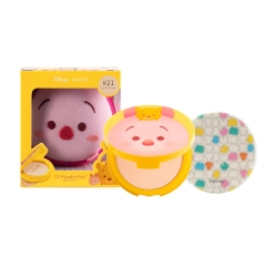 *โปรโมชั่น Tsum Tsum* CC Powder Pact SPF40 PA+++ 12g Cathy Doll Disney Tsum Tsum #21 Light Beige (Piglet)