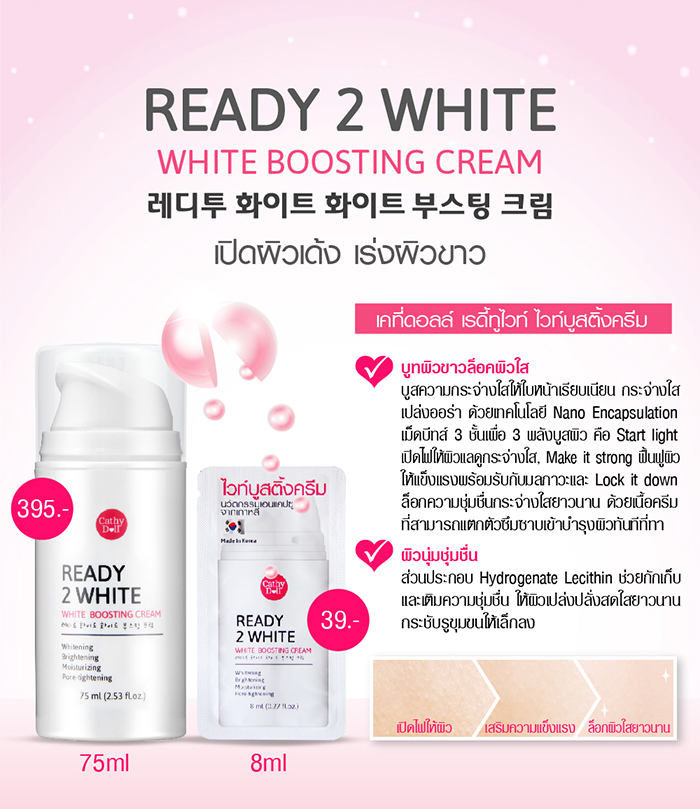 Details about Karmart Cathy Doll Ready 2 White White Boosting Cream 75ml